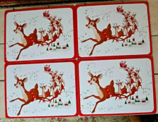 Pottery Barn Kids Rudolph the Red Nosed Reindeer Cork Placemats Set of 4
