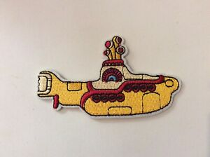 """3.5"""" X 2"""" Beatles Yellow Submarine Rock DIY Iron On Embroidered Applique Patch"""