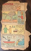 Rare Lot of 2 Vintage 1930's Popeye Comic Cartoon Club Newspaper Comics