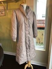 Vintage 80's Snow Weather Down Zip Up Long Puffer Coat Mauve Beige M L