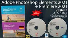 Adobe Photoshop Elements 2021 + Premiere 2021 Upgrade Box + DVD win/Mac nuevo