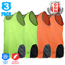 3x HI VIS SINGLET MENS TOP SAFETY PANEL WITH PIPING Cool Dry FLUORO Work Wear