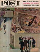 1959 Saturday Evening Post November 21 - Charlie Chaplin; SMU Bill Meek; go-cart