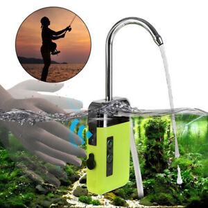 Aquarium Fish Tank Oxygen Air Pump Silent Smart Sensor Water Pumping Lighting