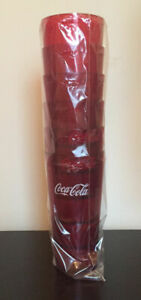 New (6) Coke Coca Cola Restaurant Red Plastic Tumblers Cups 32 oz Carlisle