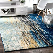nuLOOM Waterfall Vintage Abstract Accent Rug, 2' x 3', Blue