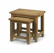 Julian Bowen Astoria American Oak Nest of 2 Tables Solid Fully Assembled Solid
