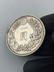 1888 japan 416 one yen 900 silver coin