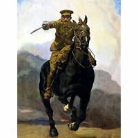 Forward Victory Cavalry Soldier WWI War Advert Large Canvas Art Print