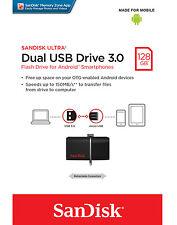 SanDisk 128GB OTG Dual Ultra USB 3.0 Micro Flash Thumb Drive Memory SDDD2-128G