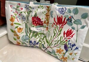 ESTEE LAUDER Floral Flower Large Tote Bag Beautiful Bird & Butterfly Print! NEW!