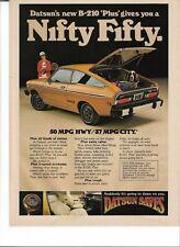 1977 Datsun B-210 : Print Ad
