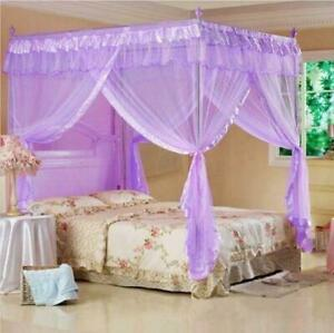 New Mosquito Net Bed Canopy Cal King Princess Full Queen Bed Twin-XL Size di19