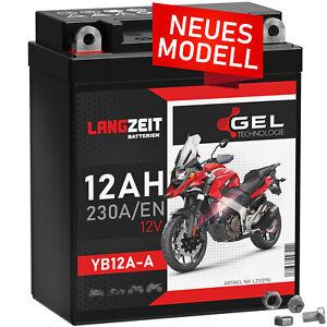 LANGZEIT GEL Motorradbatterie YB12A-A 12Ah 12V 51211 YB12A-B CB12A-A EB12A-A