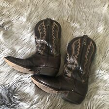 Cowboy Boots DistressEd Vtg Leather TONY LAMA Snakeskin Western Rockabilly 8ee