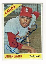 Autographed Julian Javier St. Louis Cardinals 1966 Topps Card, #436 - w/Coa