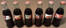 6 Different Santa Claus Coca Cola Full Bottles COKE CLASSIC