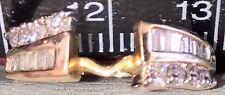 14k Oro Amarillo 0.56 CT Diamante Anillo de peso total Potenciador/Anillo Wrap