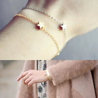 Women Girls Simple Star Charm Gold Silver Chain Fashion Bracelet Jewelry Gift