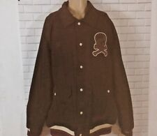 Pirates Men Stall & Dean Bomber Jacket 4XL Heavy Quilted Lined Coat Brown Cotton