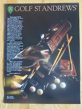 GOLF ST. ANDREWS by Design Anthony Taggert MEMORABILIA Poster