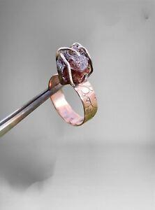 Freeform Natural Garnet Ring