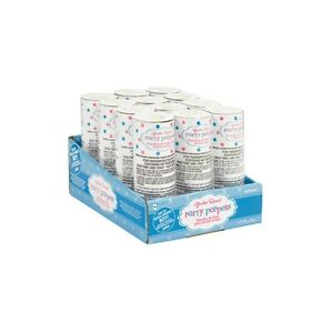GIRL OR BOY CONFETTI POPPERS - BOY PARTY FAVOURS SUPPLIES