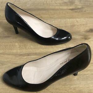 Jones Bashful Twenty Four Severn Black Court Heels Shoes Size UK 6 Eur39 Women's