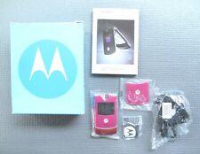 Motorola Razr V3 - Pink Magenta - Gsm (T-Mobile) Thin Flip Cell Phone -Brand New