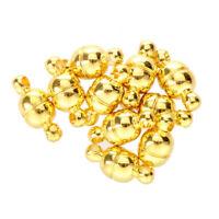10 PCS Cierre magnetico de Metal dorado 11 x 5 mm TOP F2S7