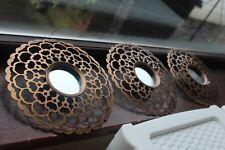 SET OF 3 Copper MOROCCAN ART DECOR ROUND WALL MIRROR MOROCCAN WALL MIRROR NEW