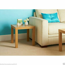 Wooden Oak Effect Coffee Lack End Display Square Table Small Stylish Side Table