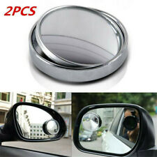 2*Blind Spot Car Mirror 360° Wide Angle Adjustable Rear Side View Convex Glass