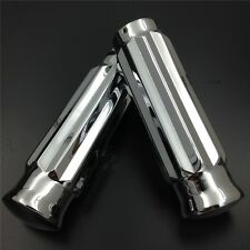 "For Harley Davidson bikes 1986-2013 CHROME Billet Motorcycle 1"" Handlebar Grips"