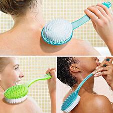 Long Handled Body Bath Shower Back Brush Scrubber Massager Skin Cleaning Brush