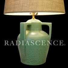 New ListingMatte Green Buttress Handle Art Pottery Ceramic Sculpture Table Lamp 1920s Teco