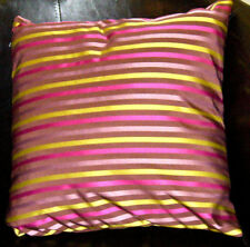 Brown, Hot Pink, LIme And Lilac Thin Stripe Evans Lichfield Cushion Cover