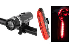 front & rear LED bike lights set for mountain road city BMX bikes bicycles