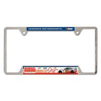 DALE EARNHARDT JR #88 NATIONAL GUARD NASCAR LICENSE PLATE FRAME CHROME METAL