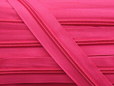 ZN05A-B6 20yards #5 DEEP PINK (516) Nylon coil continuous zipper, Zip tape chain