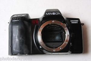 Minolta Maxxum 7000i 35mm Film SLR Camera Body 19105044 - UNTESTED - PARTS X06