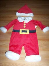 Infant Size 0-3 Months First Impressions Holiday Santa Suit & Hat Outfit Red New
