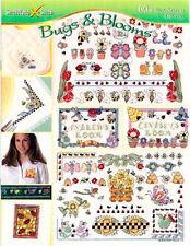 BUGS & BLOOMS 60+ Cross Stitch Patterns NEW