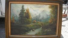 lg vintage original oil painting,Cordie (Cordelia) Lehman Tucker,TX/CA artist
