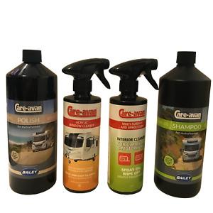 Motorhome Cleaning Kit 1ltr Polish, 1ltr Shampoo,500mls Window & Interior Spray