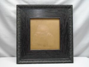 """Antique Ornate Victorian Carved Wood Picture Frame 13"""" x 13"""""""