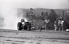 Front Engine Dragster @ Riverside International Raceway - Vtg B&W 35mm Negative