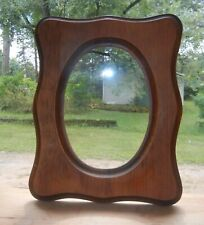 """VINTAGE 10""""H RECTANGULAR WOOD FRAME OVAL OPENING for 7 1/2""""x 5 5/8"""" PLATE PRINT"""