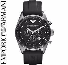 Emporio Armani AR0527 Hombre en Negro Deportivo Reloj Cronógrafo - 2 Año de