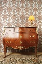 GRAND SPLENDID CHIFFONNIER COMMODE STYLE BAROQUE LOUIS XV PLATEAU MARBRE VERT